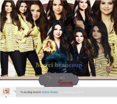Merci beaucoup , je suis blog source Selena  ♥ + poepel