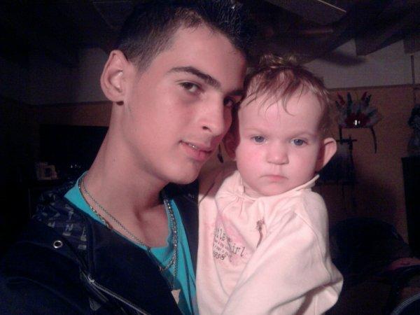 moi et ma niece ya 2 ans