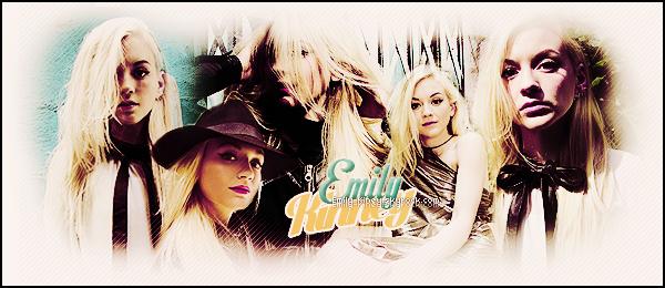 ● ● ●Bienvenue surEmily-Kiney ta source d'actualité sur la talentueuse actrice ! À travers divers articles tels que des photos, vidéos, et apparition, suivez sans plus attendre le quotidien de l'actrice américaine Emily.
