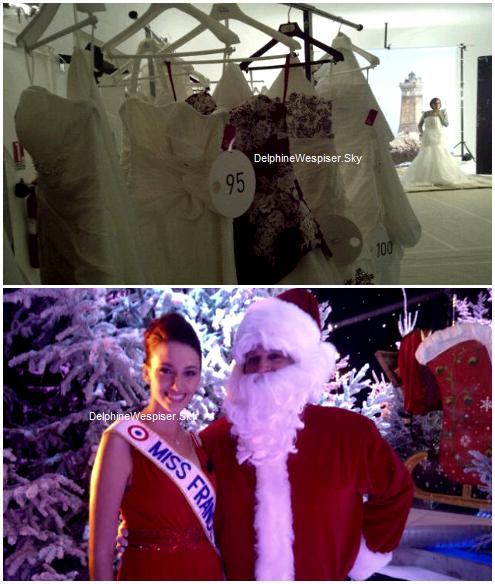 14/12/11 : Chez Arthur et 13/12/11 : Carte officielle de Delphine / Photos en robe de mariée