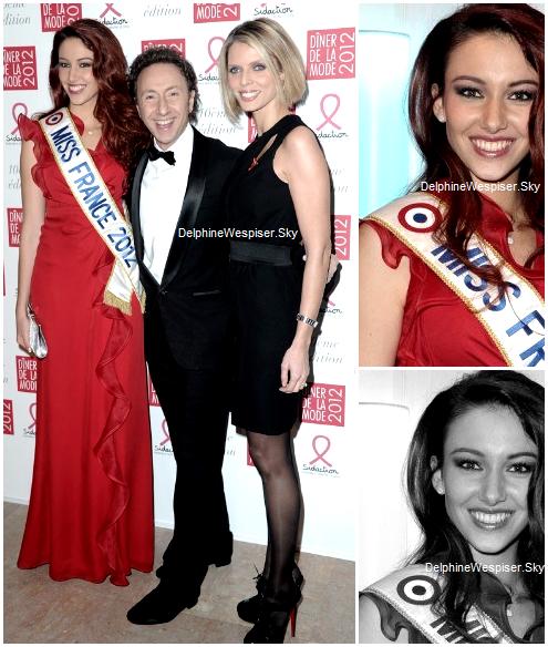 27/01/12 : Delphine au gala de la mode au profit du Sidaction avec Sylvie