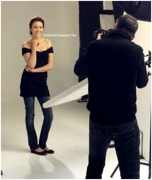 01/02/12 : Delphine à la fondation de Brigitte Bardot jeudi dernier - Séance photos pour Esthétic Center
