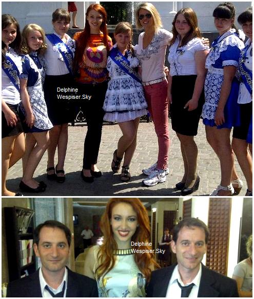 11/05/12 : Delphine en Ukraine aux côtés de Olesya Stefanko, Miss Ukraine 2011, 1ère Dauphine de Miss Univers 2011
