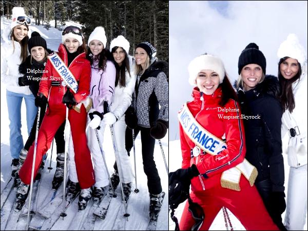 12/06/12 : De nouvelles photos de Delphine en compagnie d'anciennes Miss France à Megève