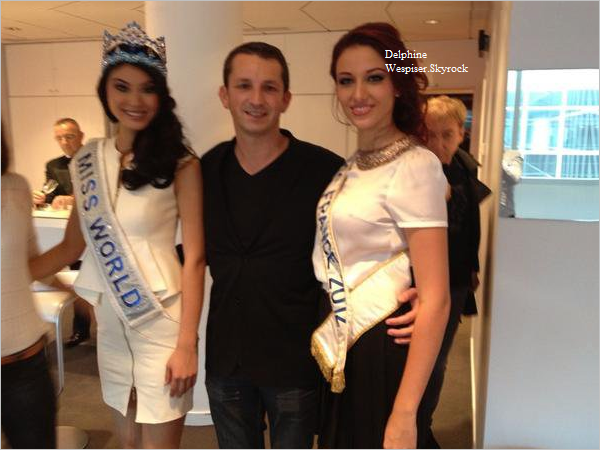26/09/12 : Delphine et Miss Monde 2012 sur TF1