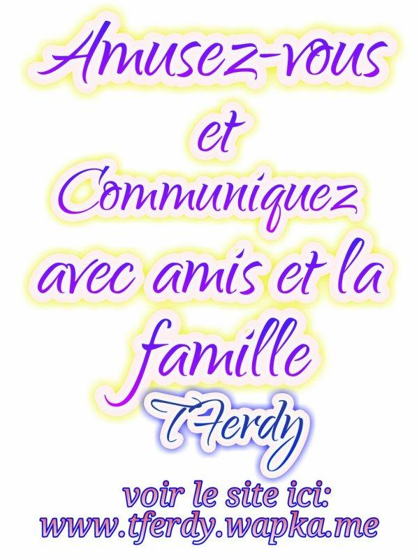 TFerdy funzone, amusez-vous et communiquez avec le peuple du monde entier. www.tferdy.tk ou www.tferdy.wapka.me