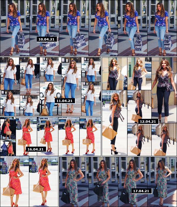 """"""" ● Semaine de tournage de la saison 16 de l'émission « America's Got Talent » - à Los Angeles !Notre jolie Sofia s'est rendue toute cette semaine sur le tournage de l'émission dont elle est la présentatrice principale ! Très spring ces looks, non ? -"""