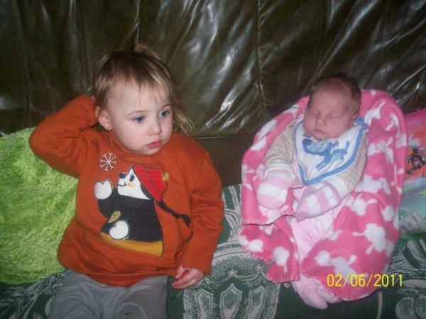 mes deux petite fille lea et kèllay si belle