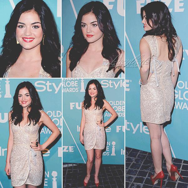 10/12/10 - Lucy était au « InStyle's Miss Golden Globes Party  » à Los Angeles.