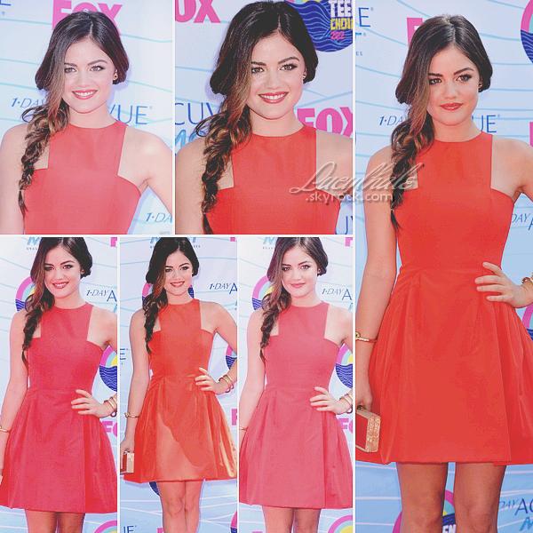 22/07/12 - Lucy H. et le cast de PLL étaient aux « Teen Choice Awards » à LA.