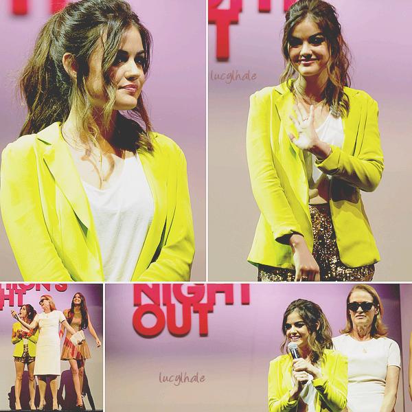 06/09/12 - Lucy H. était à la « Fashion's Night Out 2012 » au Beverly Center.