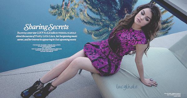 ∞ Lucy en couverture de « Prestige Runway » pour la saison Automne/Hiver.