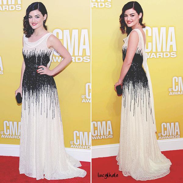 01/11/12 - Notre jolie Lucy Kate Hale s'est rendue aux « CMA Awards» à Nashville.
