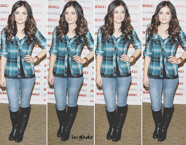 10/11/12 - Lucy était à une Karaoke Party organisé par la marque Bongo à Sears.