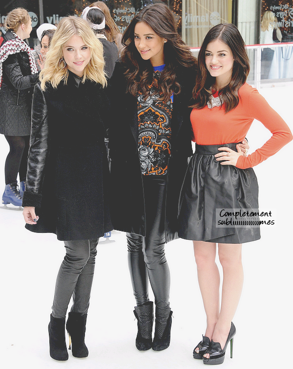 02/12/12 - L', Shay et Ash' aux « 25 Days of Christmas Winter Wonderland ».