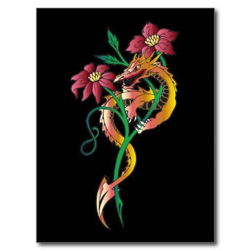 Tatouage fleur original.