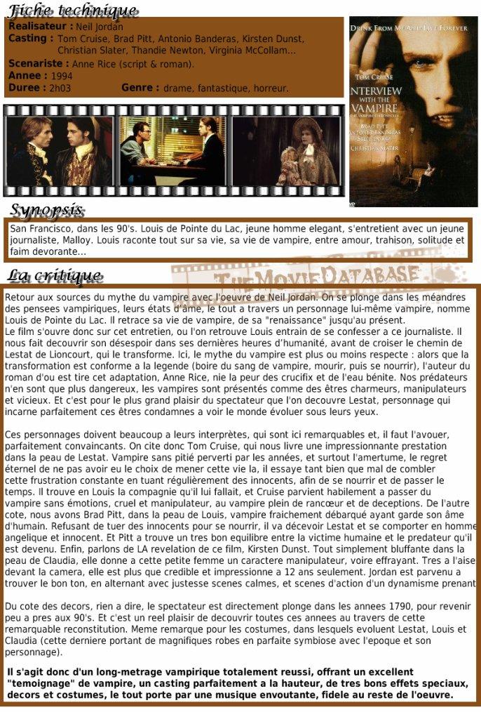 Film - Entretien avec un Vampire