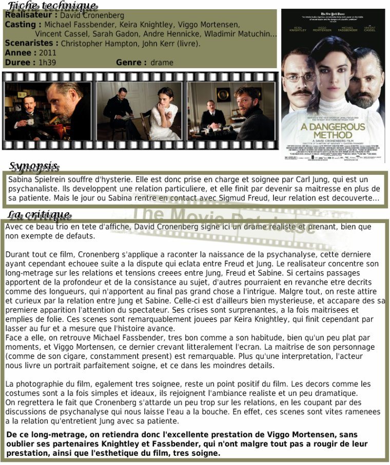 Film - A Dangerous Method