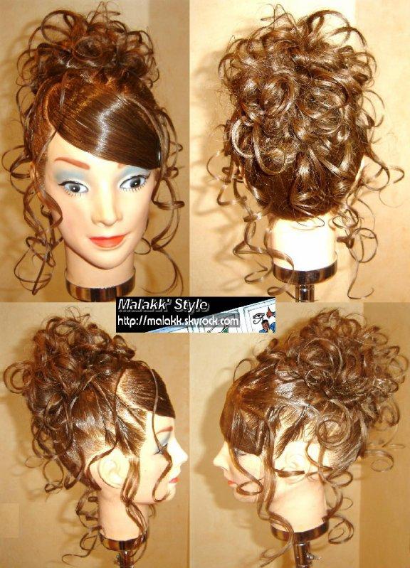 Chignon Boucles Au Fer Mars 2008 Malakk Style Hairstylist Coiffeur Multiethnique