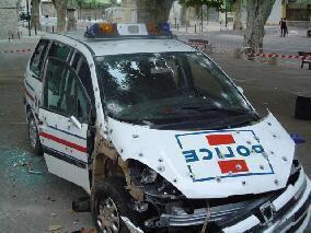 petit accident de voiture !