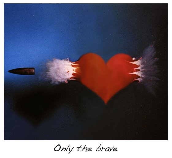 Brave Words : Only the brave...