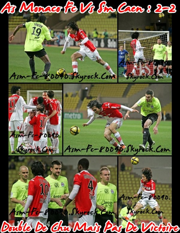 As Monaco Fc - Stade Municipale De Caen : 2-2