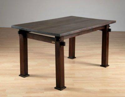 Table en bois iroko blog de menuiseriepythagore - Fabriquer une table de picnic en bois ...
