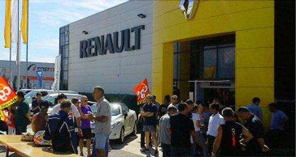grèves intermittentes chez Renault