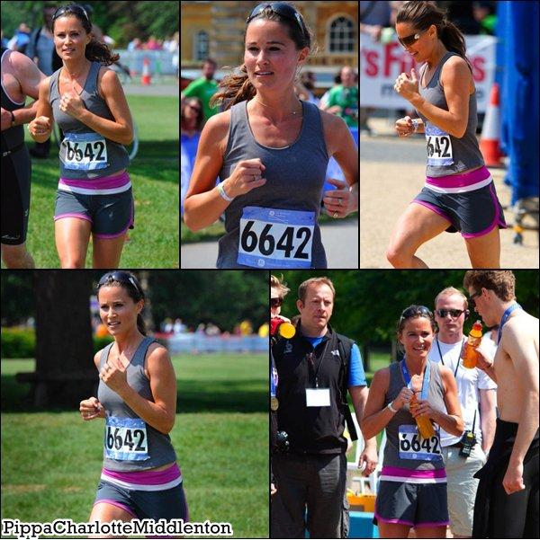4 Juin 2011: Pippa a participé au Triathlon de Ge Blenheim à Woodstock.