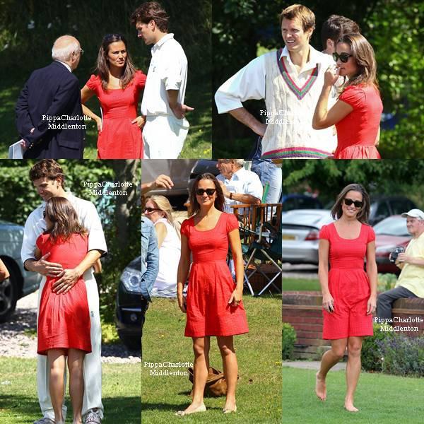 14 Aout 2011: Pippa est allait supporter son homme à un match de cricket à Londres.