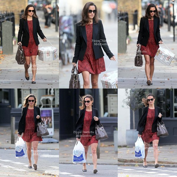 06.10.11: Pippa est allée (encore faire du shopping) mais cette fois si dans le quartier de Notting Hill.