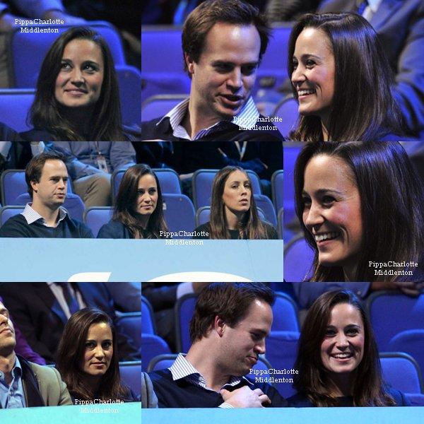 27.11.11: Hier soir  Pippa et des amis ont assisté au ATP World Tour Finals.