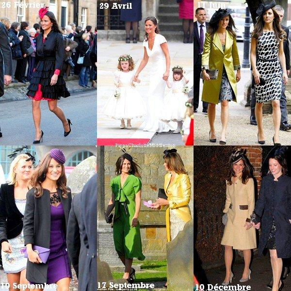 L'année 2011 a était celle des mariages. Mais quels sont les top et les flop de Pippa?