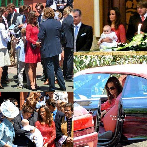 Souvenez-vous le 25 Juin 2011 Pippa s'était rendue en Suisse pour un baptême.