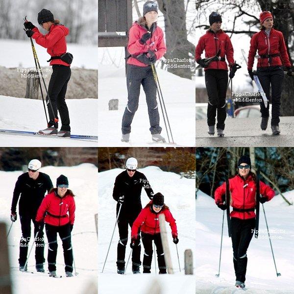 """27.02.12: Pippa et James sont en Suède pour s'entrainer avant la course de """"Vasaloppet"""" qui aura lieu Dimanche."""