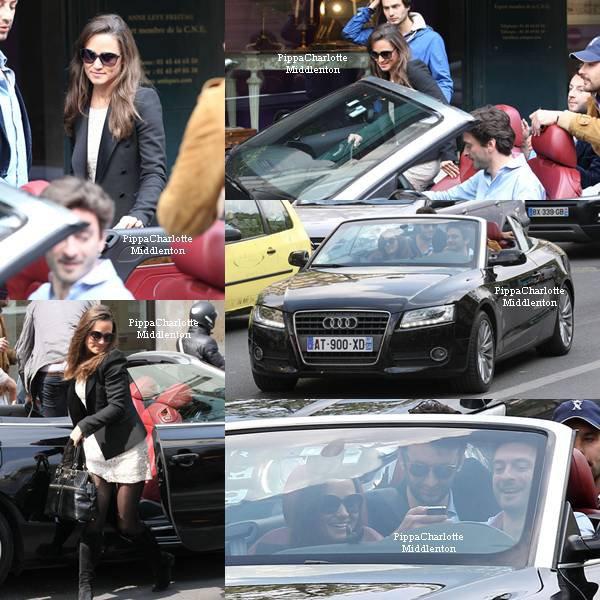 14.04.12: Pippa prenant un taxi lors de son retour à la gare de Londres après un petit séjour dans notre capitale.