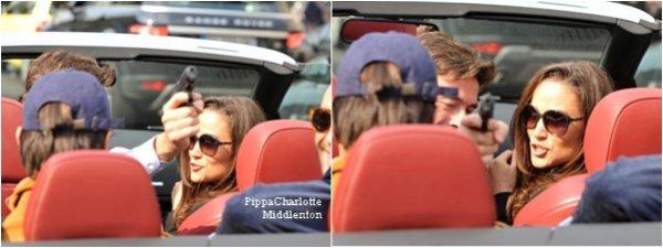 Photos de Pippa lors de la soirée d'anniversaire de son ami Arthur à Paris