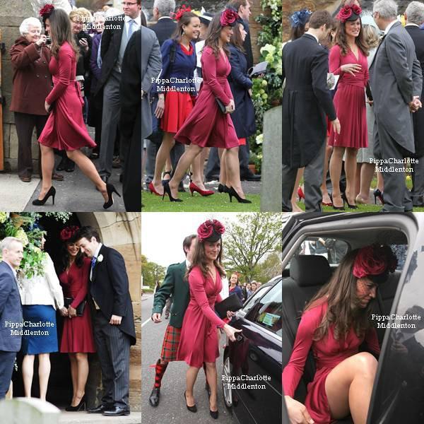 19.05.12: Pippa s'est rendu aujourd'hui en Ecosse pour assister au mariage de ses amis.