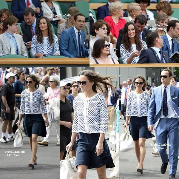 28.06.12: Pippa et James ont assisté au match qui opposait le joueur britannique Andy Murray face au russe Nikolay Davydenko à Wimbledon
