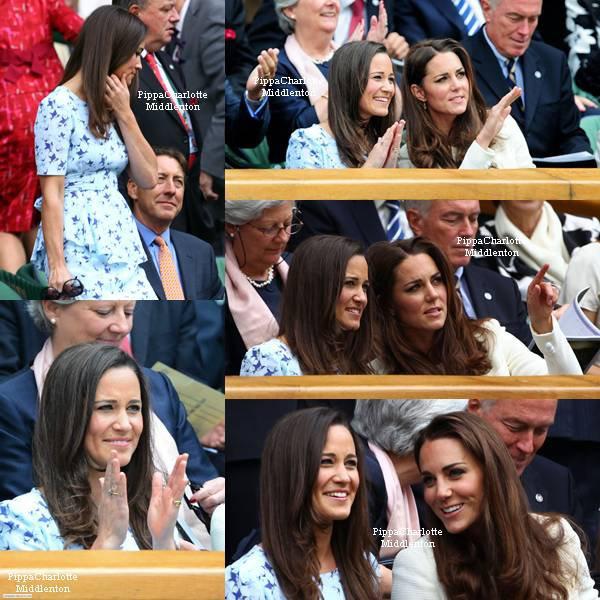 08.01.12: C'est accompagnée de son ainée que Pippa à assistait à final des hommes à Wimbledon