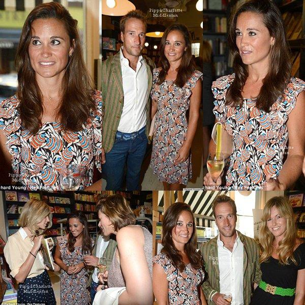 21.08.12: Pippa lors du lancement du livre du présentateur britannique Ben Fogle à Londres
