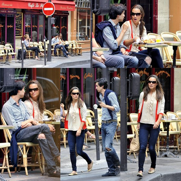 26.08.12: Pippa était ce week end à Paris elle en a profitait pour prendre un petit déjeuner typiquement de chez nous et faire du vélo.
