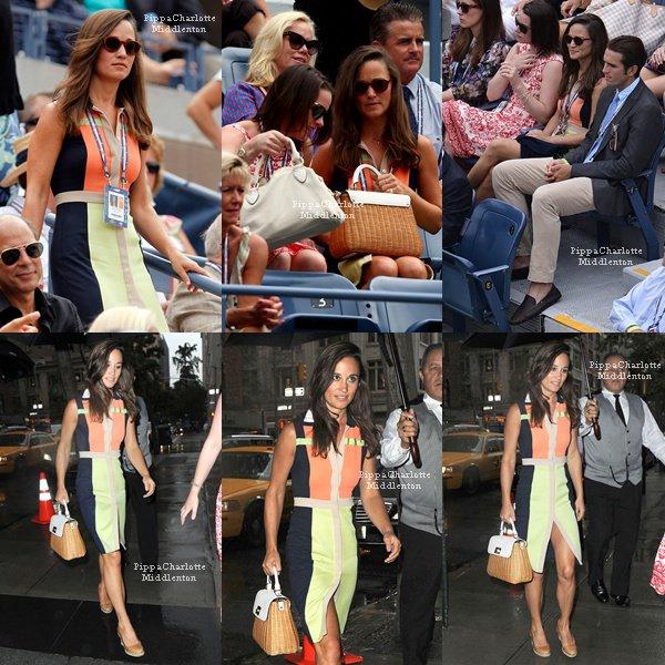 04.09.12: Pippa a été aperçu dans les rues de New York avec des amies avec un café à la main et des rollers dans l'autre.