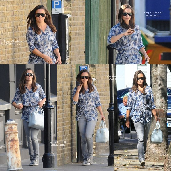 14.09.12: Pippa sortant un Coffe Shop dans Chelsea à Londres.