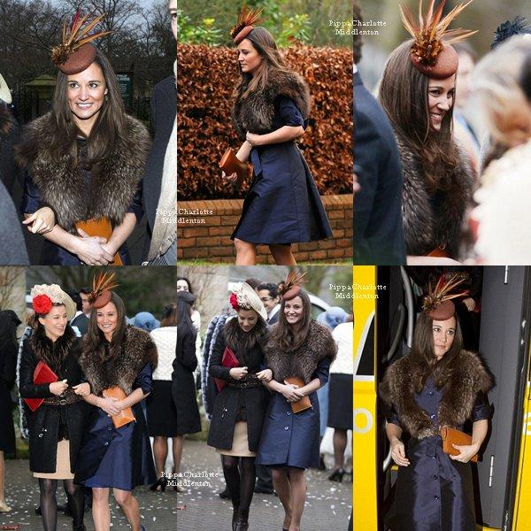 08.12.12: Hier Pippa était en Ecosse pour assistait au mariage de ses amis.
