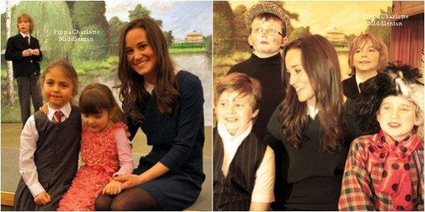 Pippa s'était rendu à l'école Mary Hare pour apporter son soutient aux enfants.