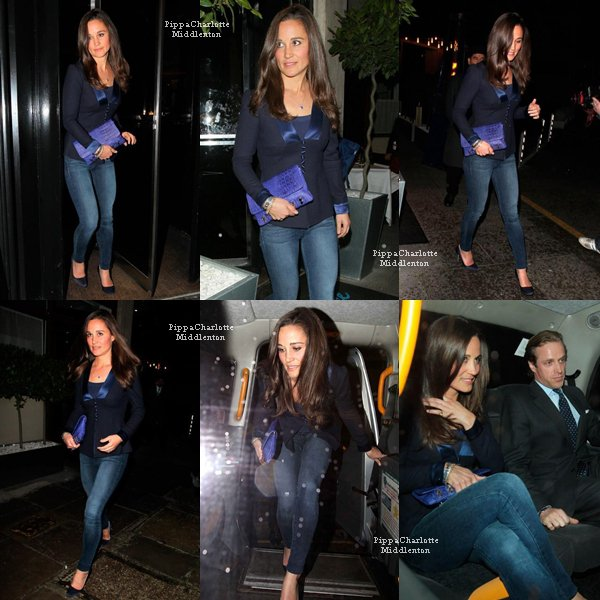"24.04.13: Pippa et son ami Tom Kingston quittant le restaurant ""Le Caprice"" dans Mayfair"