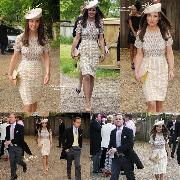 18.05.13: Pippa, James et son ami Tom kingston se s'ont rendus à un mariage. ♥