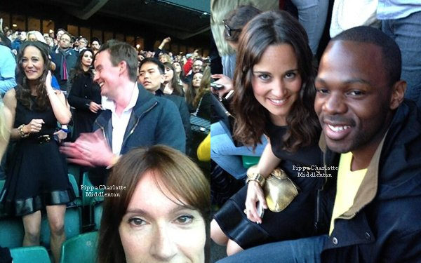 "01.06.13: Hier soir Pippa a assistait avec des amis au concert ""Chime for Change"" au stade Twickenham à Londres."