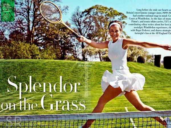 """Pippa a réalisait un photoshoot pour le magasine """"Vanity Fair USA"""" du mois de Juillet."""